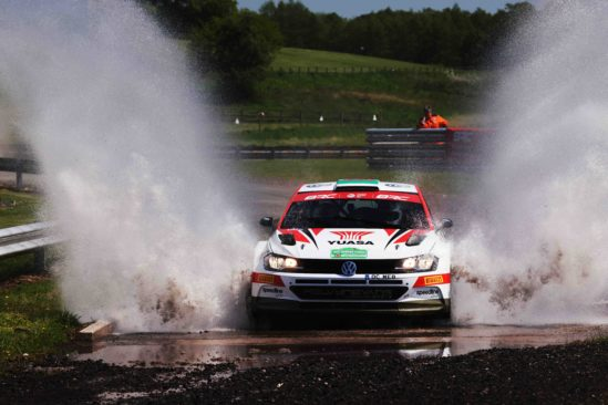 Batteries fully charged, as Matt Edwards prepares for maiden forest rally in his Yuasa Rally Team Volkswagen Polo GTI R5